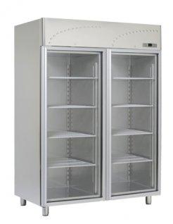 Szafa chłodnicza przeszklona 2x GN 2/1 LS-140 SV, poj. 1300 l