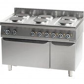 Kuchnia elektryczna 6 palnikowa z piekarnikiem elektrycznym 15,6+7 kW (3 systemy grzania), 971700