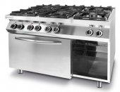 Kuchnia gazowa 6-palnikowa Kitchen Line z konwekcyjnym piekarnikiem elektrycznym GN 1/1, 225899