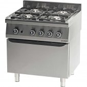 Kuchnia gazowa 4 palnikowa z piekarnikiem gazowym 20,5+5 kW - G30/31 (propan-butan), 971013