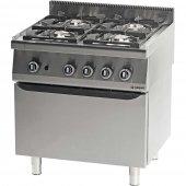 Kuchnia gazowa 4 palnikowa z piekarnikiem gazowym 22,5+5 kW - G30/31 (propan-butan), 971023
