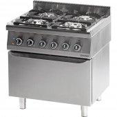 Kuchnia gazowa 4 palnikowa z piekarnikiem elektrycznym 20.5kW (zestaw) - G30 (propan-butan), 971513