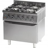 Kuchnia gazowa 4 palnikowa z piekarnikiem elektrycznym 24kW (zestaw) - G30 (propan-butan), 971533