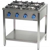 Kuchnia gazowa wolnostojąca 4 palnikowa z półką 22.5kW - G30 (propan-butan), 979523