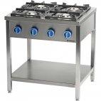 Kuchnia gazowa wolnostojąca 4 palnikowa z półką 24 kW - G30 (propan-butan), 979533