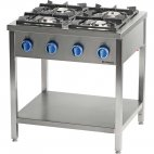 Kuchnia gazowa wolnostojąca 900 - 4 palnikowa z półką 20,5kW - G30 (propan-butan), 999513