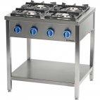 Kuchnia gazowa wolnostojąca 900 - 4 palnikowa z półką 24kW - G30 (propan-butan), 999533