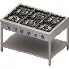 Kuchnia gazowa wolnostojąca 900 - 6 palnikowa z półką 32,5 - G30 (propan-butan), 999613