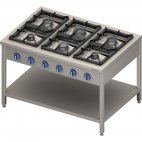 Kuchnia gazowa wolnostojąca 900 - 6 palnikowa z półką 36,5 - G30 (propan-butan), 999623