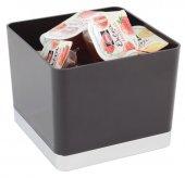 Pojemnik stołowy na odpadki / sztućce z tworzywa sztucznego czarny 13.5x13.5, APS 00015