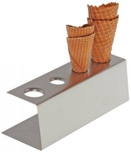 Stojak na wafle do lodów ze stali nierdzewnej 9.5x27.5 cm, APS 11881