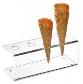 Stojak na wafle do lodów z akrylu 24.5x9.5 cm, APS 11894