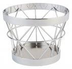 Koszyk okrągły BASKET z metalu chrom 10.5/8 cm, APS 15320