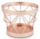 Koszyk okrągły BASKET z metalu miedź 10.5/8 cm, APS 15322