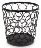 Koszyk okrągły BASKET z metalu czarny 21/15 cm, APS 15326