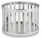 Koszyk okrągły BASKET z metalu chrom 15x10.5 cm, APS 15331