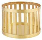 Koszyk okrągły BASKET z metalu złoty 15x10.5 cm, APS 15334