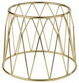 Stojak bufetowy DIAMOND z metalu złoty 19.5 cm, APS 33275