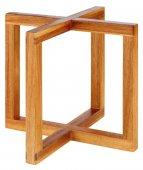 Stojak bufetowy WOOD z drewna akacjowego beżowy 17.5 cm, APS 33280