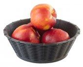 Kosz na pieczywo / owoce WICKER LOOK z tworzywa sztucznego czarny 20x6.5 cm, APS 40214