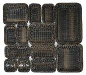 Kosz PROFI LINE GN 1/6 brązowo-czarny wys. 6.5 cm, APS 40227