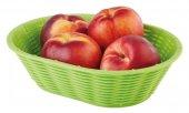Kosz na pieczywo / owoce WICKER LOOK z tworzywa sztucznego zielony 23x17 cm, APS 40236