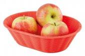 Kosz na pieczywo / owoce WICKER LOOK z tworzywa sztucznego czerwony 23x17 cm, APS 40237