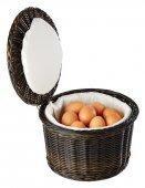 Kosz na jajka z tworzywa sztucznego czarno-brązowy 26x17 cm, APS 40299