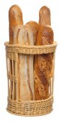 Kosz na bagietki z tworzywa sztucznego beżowy 38 cm, APS 50500