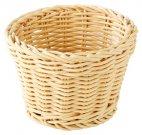 Koszyk okrągły PROFI LINE z tworzywa sztucznego jasnobeżowy 13x10 cm, APS 50620