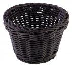 Koszyk okrągły PROFI LINE z tworzywa sztucznego czarny 13x10 cm, APS 50622