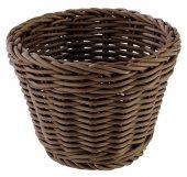 Koszyk okrągły PROFI LINE z tworzywa sztucznego brązowy 13x10 cm, APS 50623