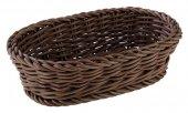 Koszyk owalny PROFI LINE z tworzywa sztucznego brązowy 19x12 cm, APS 50627