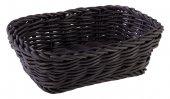 Koszyk prostokątny PROFI LINE z tworzywa sztucznego czarny 19x13 cm, APS 50630
