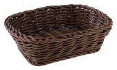 Koszyk prostokątny PROFI LINE z tworzywa sztucznego brązowy 19x13 cm, APS 50631