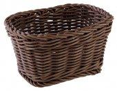 Koszyk prostokątny PROFI LINE z tworzywa sztucznego brązowy 17x11 cm, APS 50635