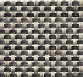 Podkładka pod nakrycie z tworzywa sztucznego wąski splot srebrno-szara, APS 60015