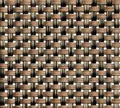 Podkładka pod nakrycie z tworzywa sztucznego wąski splot beżowo-brązowa, APS 60019