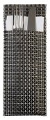 Torebka na sztućce z tworzywa sztucznego srebrnoszara - zestaw: 6 szt., APS 60551