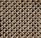 Torebka na sztućce z tworzywa sztucznego beżowo-brązowa - zestaw: 6 szt., APS 60552