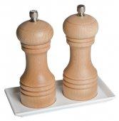 Taca prostokątna z 2 otworami z melaminy 16.5x8.5 cm, APS 84039