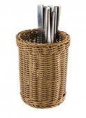 Koszyk na sztućce ECONOMIC z tworzywa sztucznego brązowy 12x15 cm, APS 40012