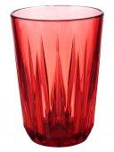 Szklanka czerwona CRYSTAL, z tritanu, przezroczysta, poj. 0,15 l, op. 48 szt., APS 10510