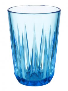 Szklanka niebieska CRYSTAL, ztritanu, przezroczysta, poj. 0,15 l, op. 48 szt., APS 10513