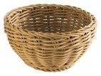 Koszyk okrągły PROFI LINE, polipropylenowy, beżowy, śr. 16 cm, wys. 8 cm, APS 50601