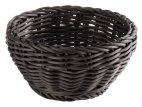 Koszyk okrągły PROFI LINE, polipropylenowy, czarny, śr. 16 cm, wys. 8 cm, APS 50602