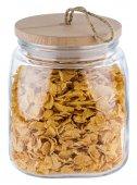 Słój szklany z pokrywką drewnianą WOODY, poj. 2 l, APS 82256