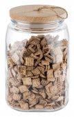 Słój szklany z pokrywką drewnianą WOODY, poj. 2,5 l, APS 82257