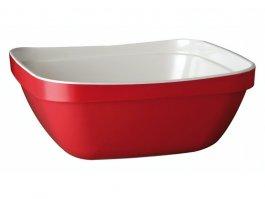 Miska kwadratowa BASKET, zmelaminy, czerwono-biała, poj. 2,8 l,APS 84007