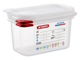 Pojemnik gastronomiczny GN 1/9 zpokrywką, polipropylenowy, HACCP, wys. 100 mm, poj. 1l